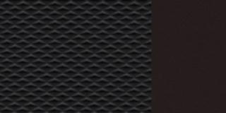 Must poolnahksisu, monoform stiilis istmed
