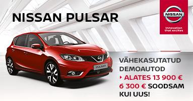 Vähekasutatud Nissan Pulsar